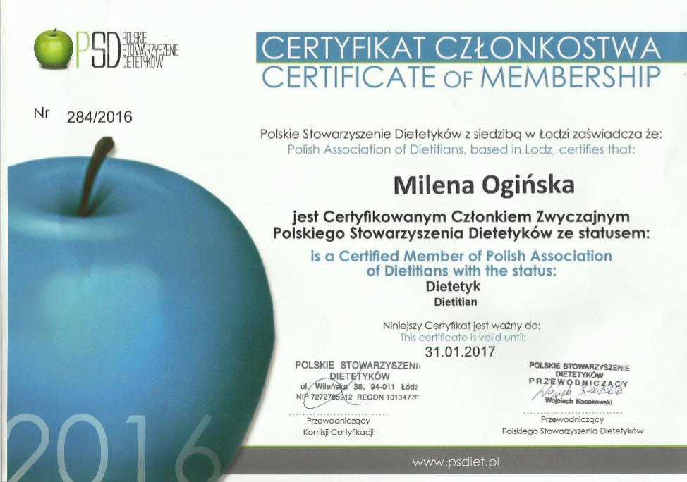 Certyfikat PSD